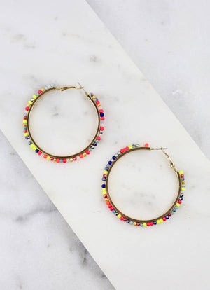 Greenbrier Multi Glass Bead Hoop Multi