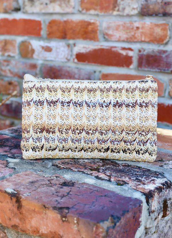 Liz Custom Collection Crossbody Bag Woven Neutral Straw