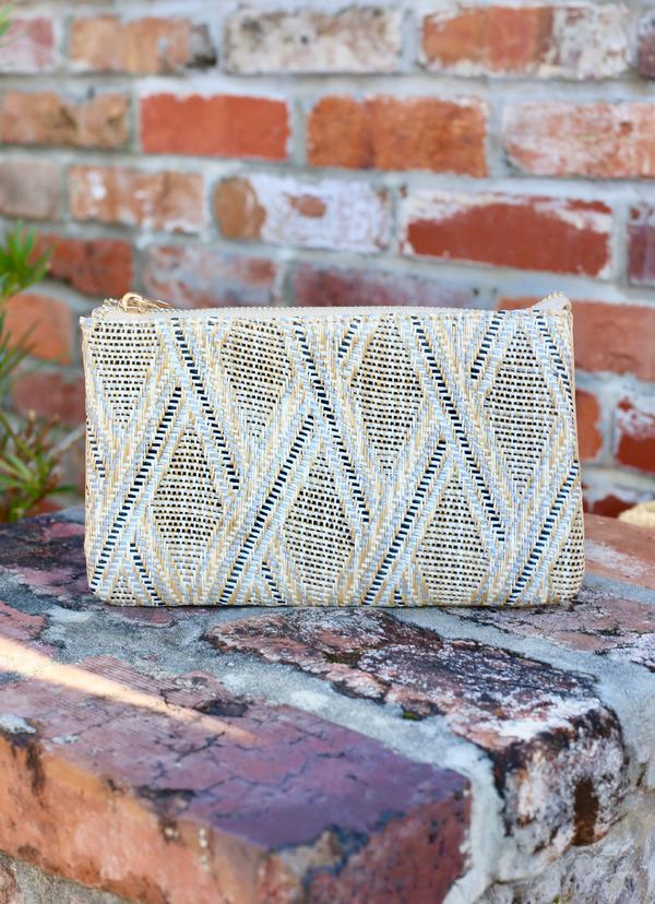 Liz Custom Collection Crossbody Bag Straw Neutral Lattice