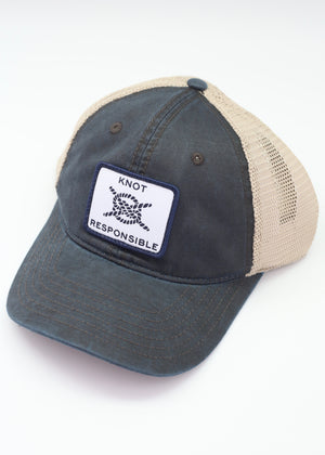 Relaxed Trucker Hat Classic Logo- Washed Navy