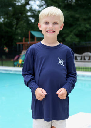 Classic Performance Long Sleeve Kids - Navy