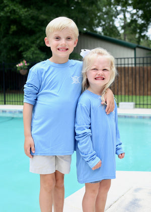 Classic Performance Long Sleeve Kids - Carolina Blue