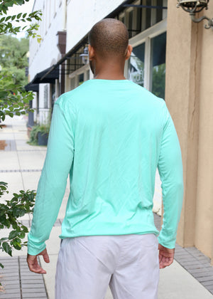 Sleeve Logo Performance Long Sleeve - Seafoam