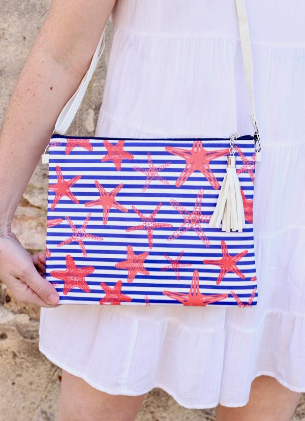Seachaser Crossbody/Clutch Starfish Navy