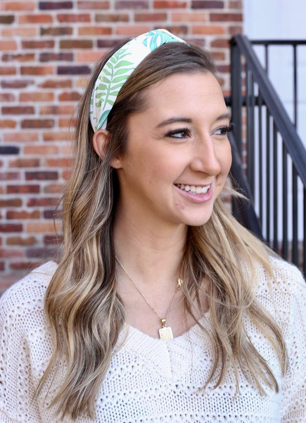 May Flowers Floral Headband Green
