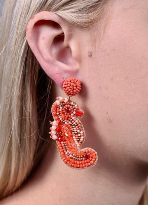 Safrina Seahorse Earring Coral