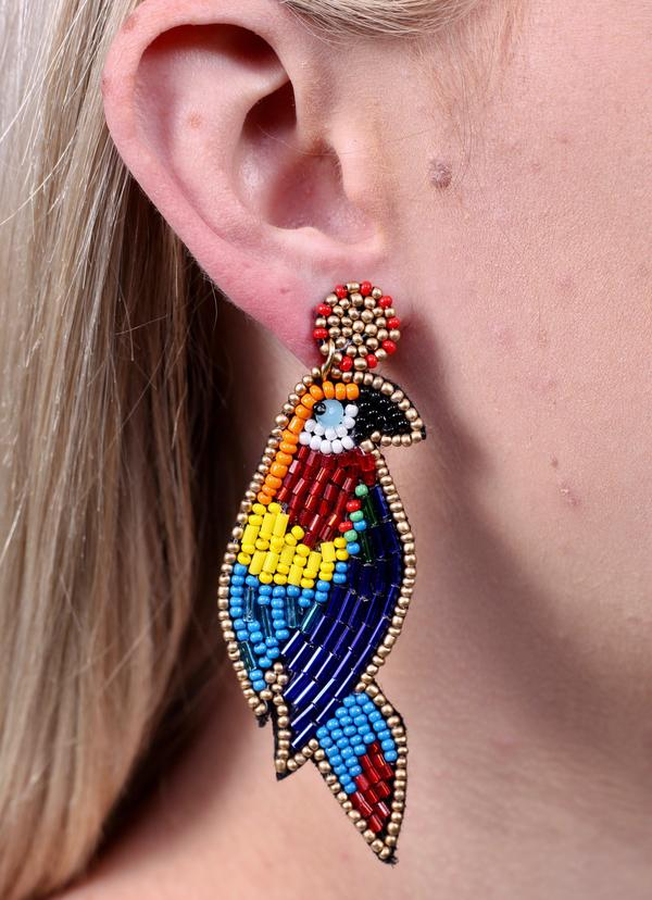 Tweety Embellished Bird Earring Multi