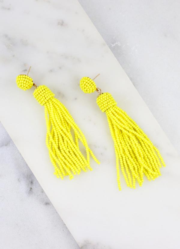Talley Tassel Earring Yellow