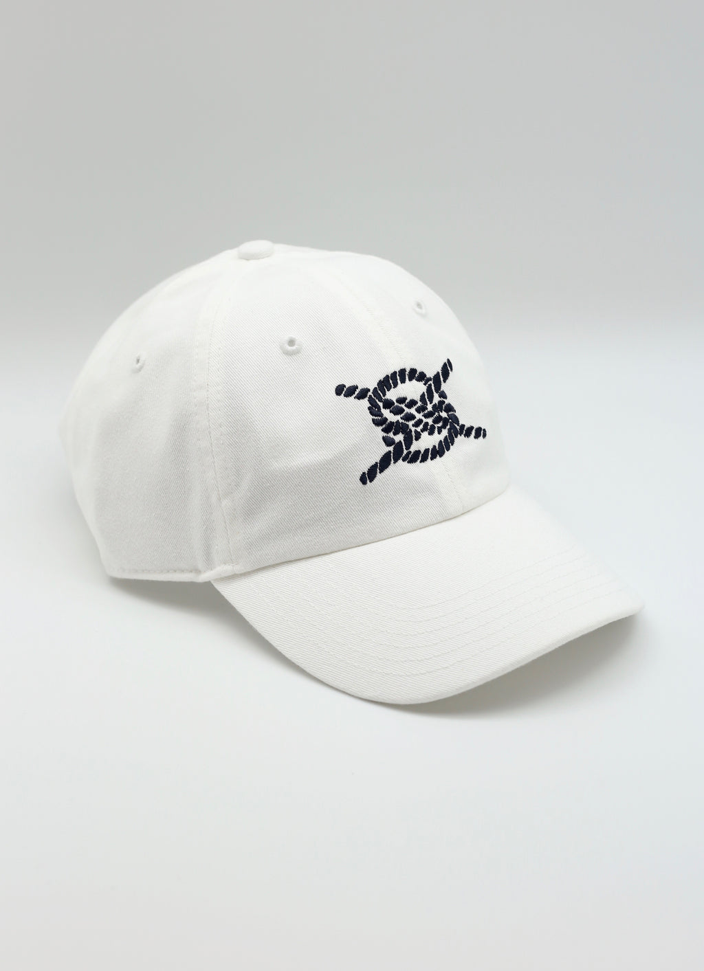 Lil' Daddy Hat- White/Navy