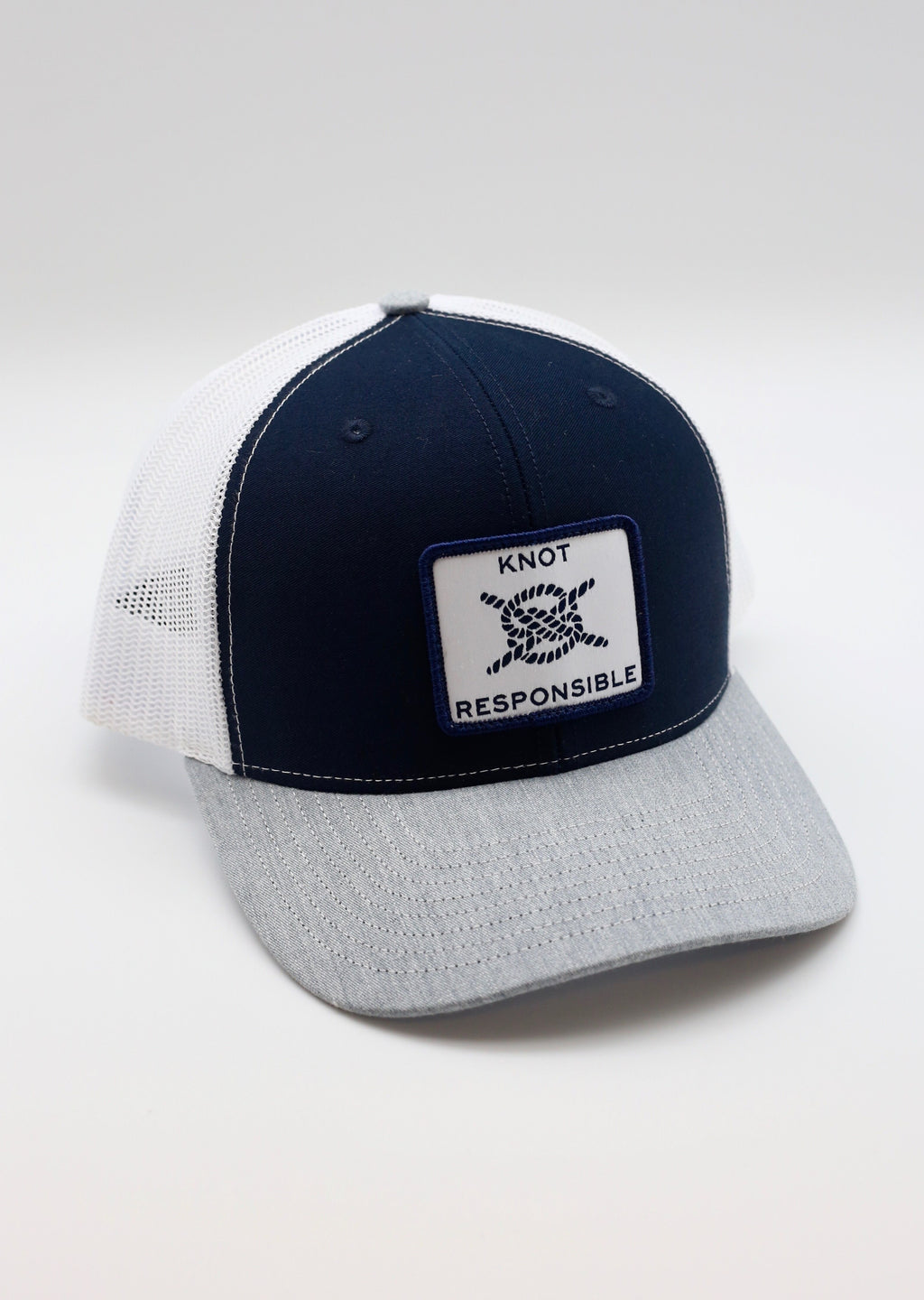 Original Trucker Hat Classic Logo- Navy/White/Grey