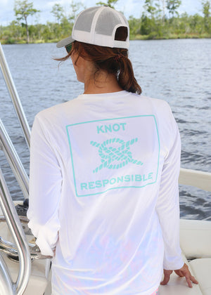 Island Collection Classic Logo Long Sleeve - Aqua