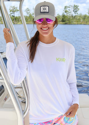 Island Collection Classic Logo Long Sleeve - Lime