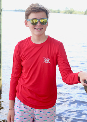 Classic Performance Long Sleeve Kids - Red