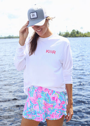 Island Collection Classic Logo Long Sleeve - Pink