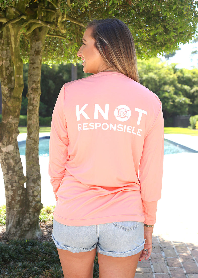 Stacked Logo Performance Long Sleeve - Coral
