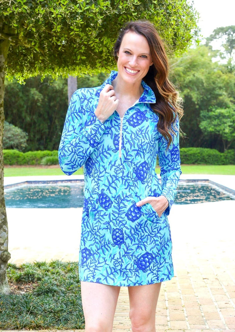 Sophi Sport Half Zip Dress Coco Bay Turtles