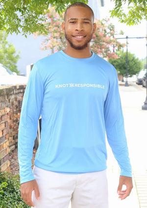 Chest Logo Performance Long Sleeve - Carolina Blue