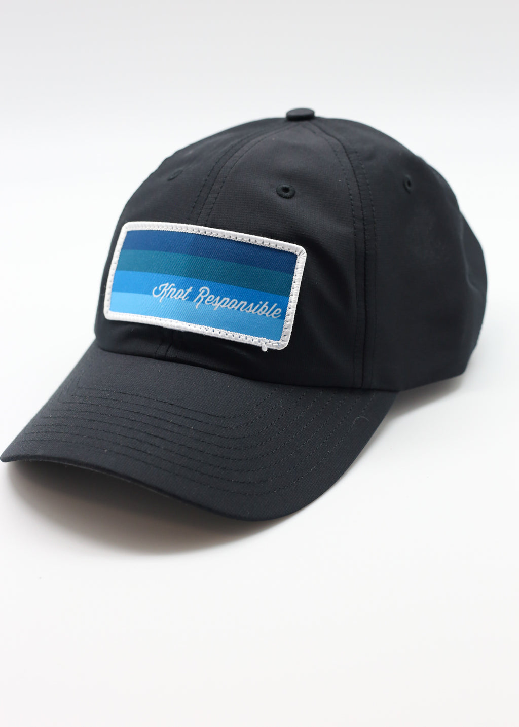Stripe Performance Hat- Black
