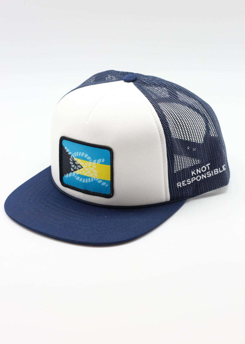 Limited Edition Abaco Strong Foam Trucker Hat- Navy/White