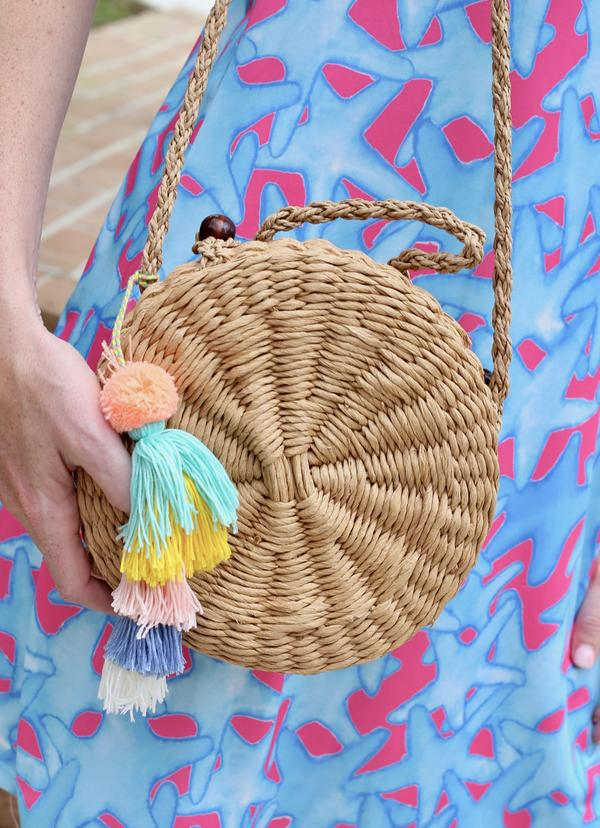 Marielle Multi Tassel Straw Crossbody