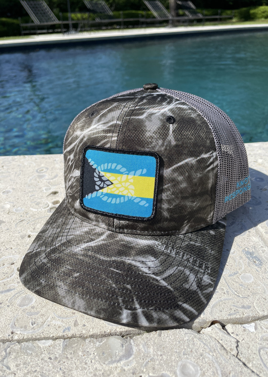 Bahama Original Trucker Hat- Blacktip Camo