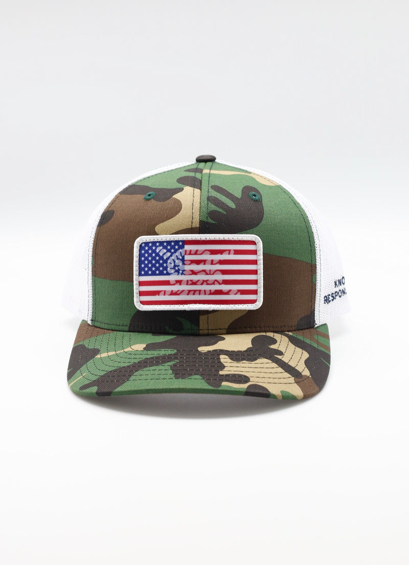 Limited Edition USA Patch Camo Trucker Hat