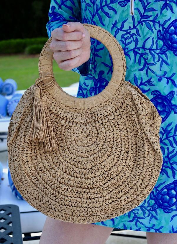 Finley Favorite Straw Bag With Handles