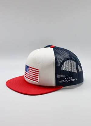 Limited Edition USA Patch Foam Trucker Hat- Red /Navy/White