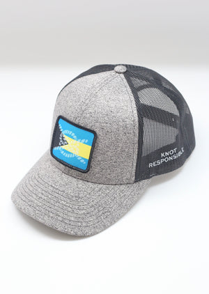 Limited Edition Abaco Strong Low Pro Trucker Hat- Grey & Black