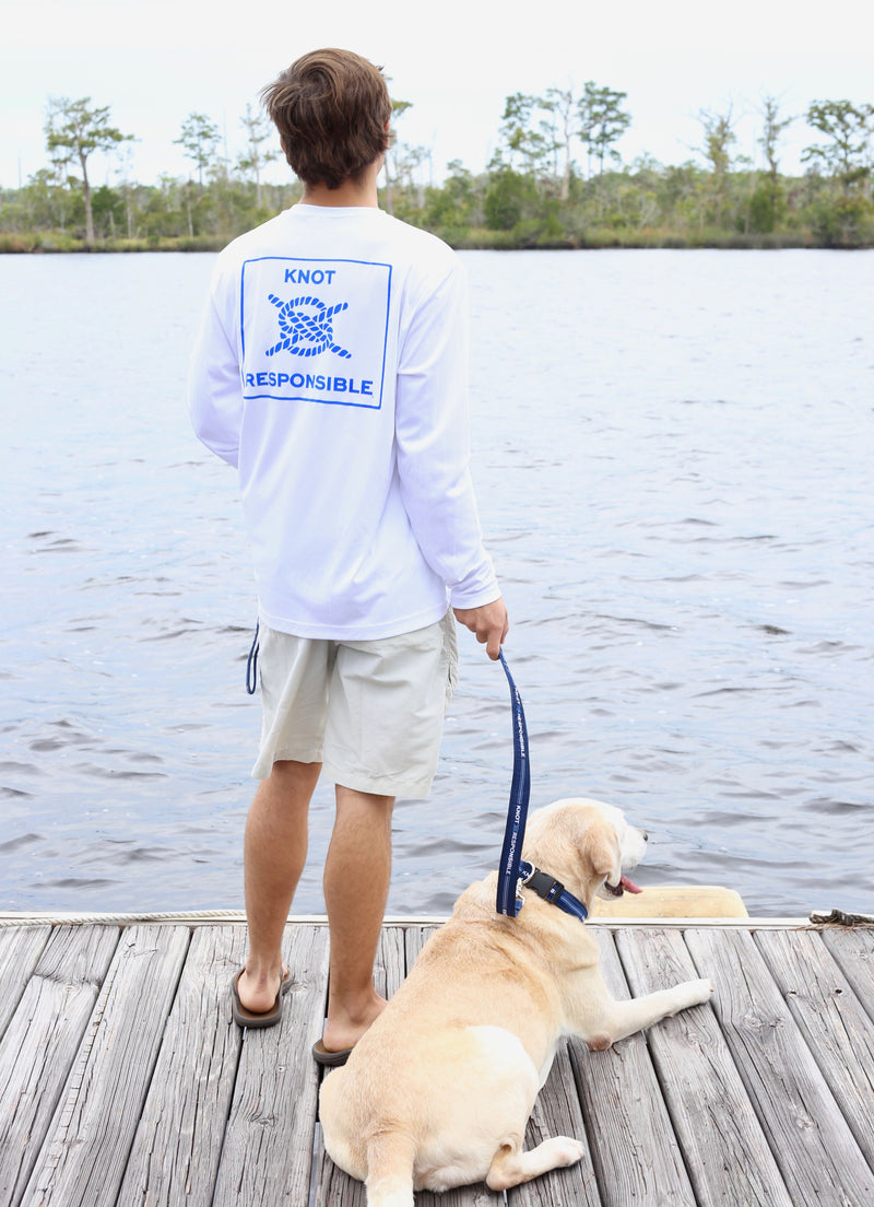 Island Collection Classic Logo Long Sleeve - Blue