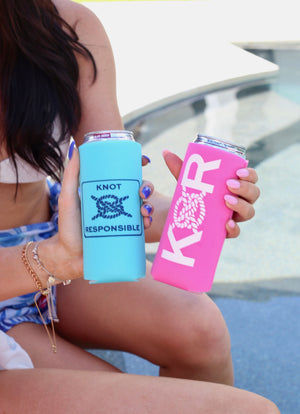 Classic KR Slim Can Koozie- Turquoise