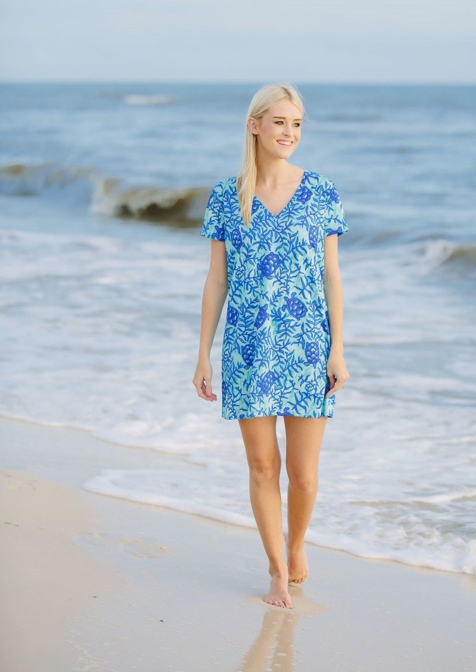 Vanessa V Neck Dress Coco Bay Turtles