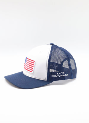 Limited Edition USA Patch Original Trucker Hat - Navy/White
