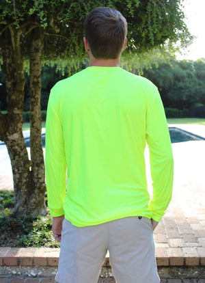Chest Logo Performance Long Sleeve - Neon Yellow