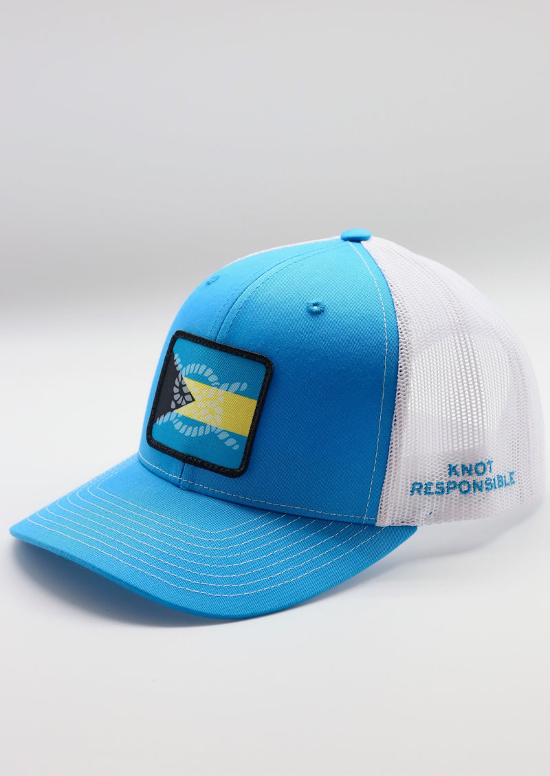 Limited Edition Abaco Strong Original Trucker Hat- Turquoise/ White