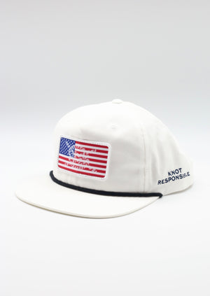 Limited Edition USA Patch West Coast Hat - White