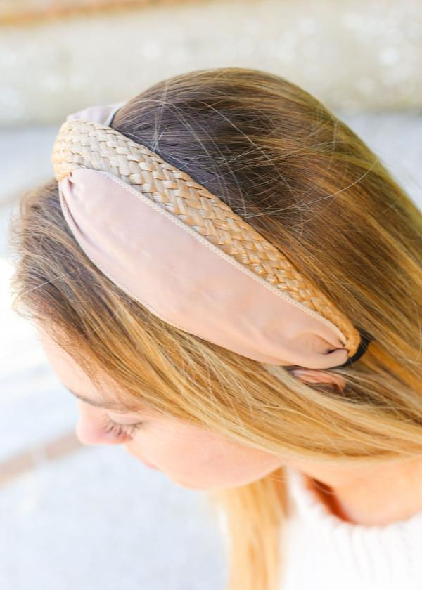 Whitewater Woven And Fabric Headband Tan