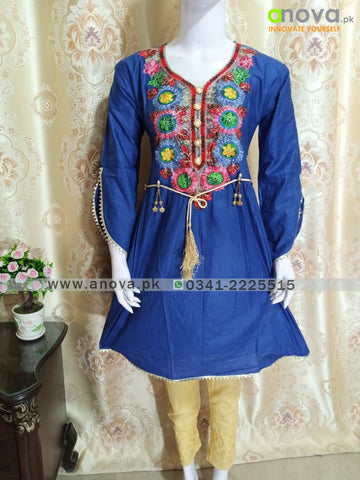 Fancy Three Piece Embroided Suit Anova.pk