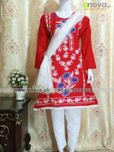 Fancy Embroided Three Piece Suit Article CST-4002