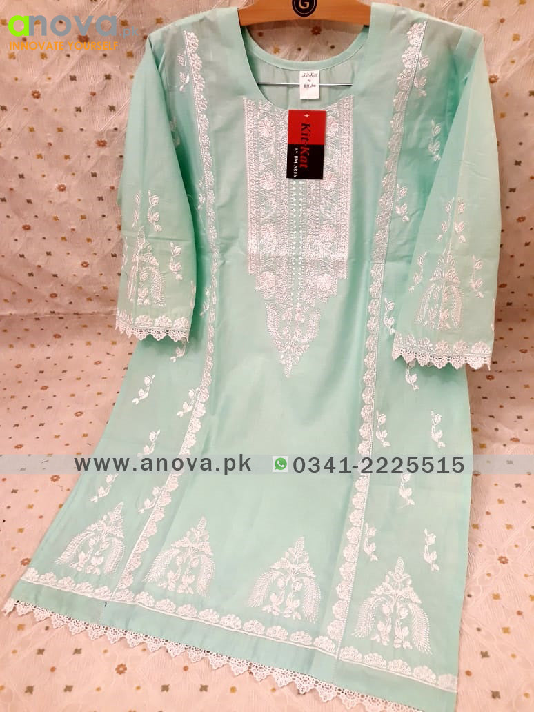 Premium Quality Cotton Embroidered Women Shirt Article KKC-30016