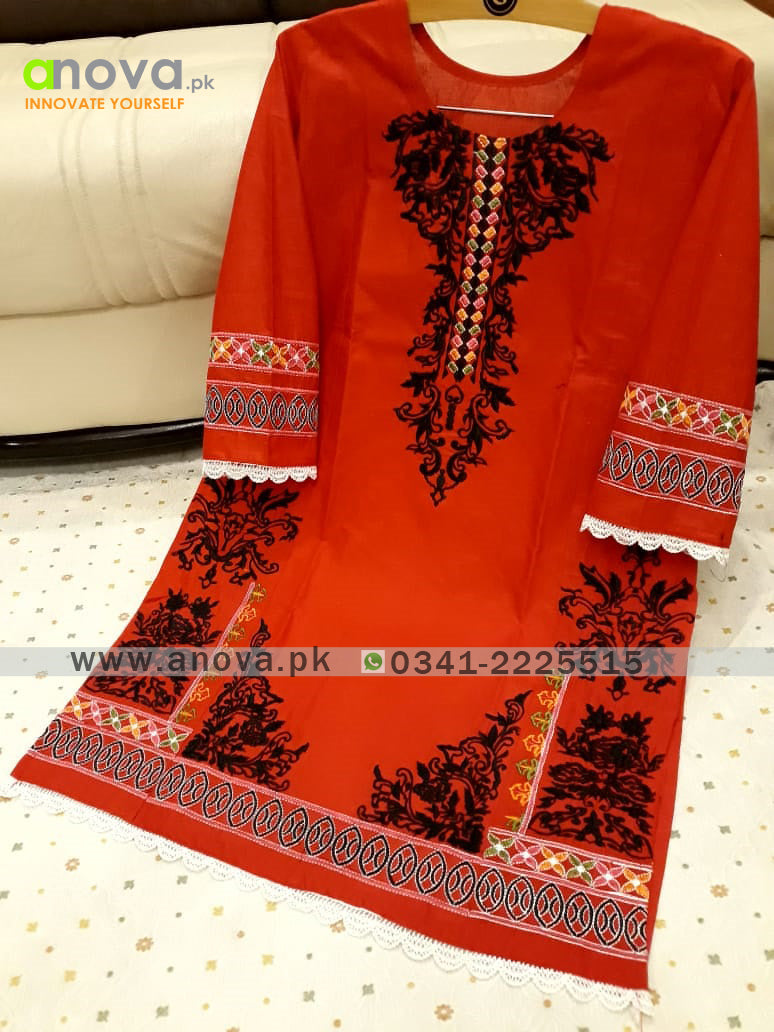 Premium Quality Summer Cotton Embroidered Women Shirt Article KKC-20011