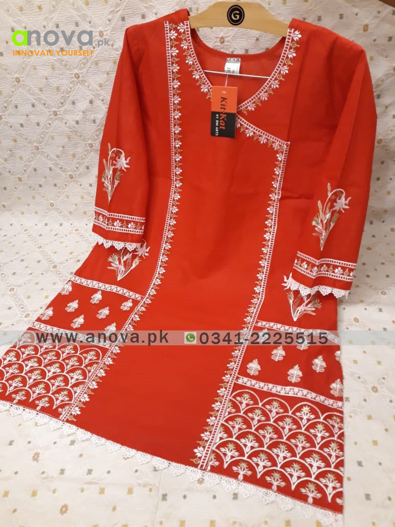 Premium Quality Summer Cotton Embroidered Women Shirt Article KKC-20026