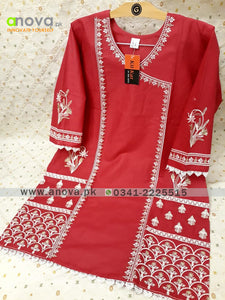 Premium Quality Summer Cotton Embroidered Women Shirt Article KKC-20016