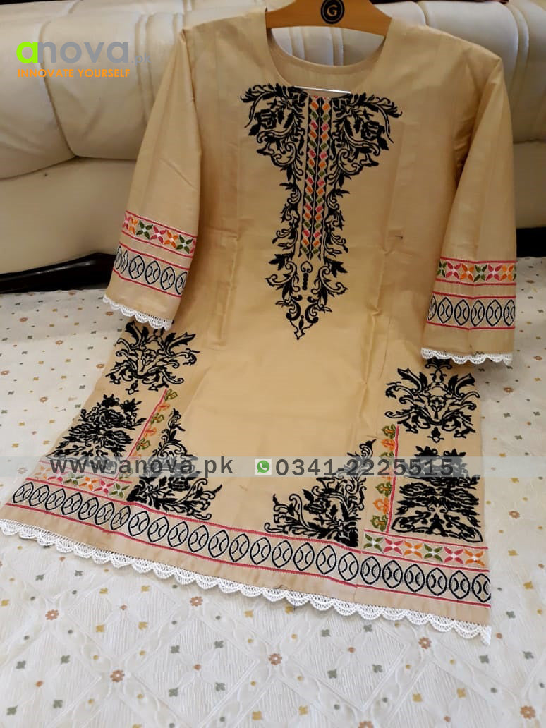 Premium Quality Summer Cotton Embroidered Women Shirt Article KKC-20024