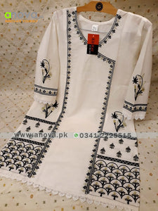 Premium Quality Summer Cotton Embroidered Women Shirt Article KKC-20020