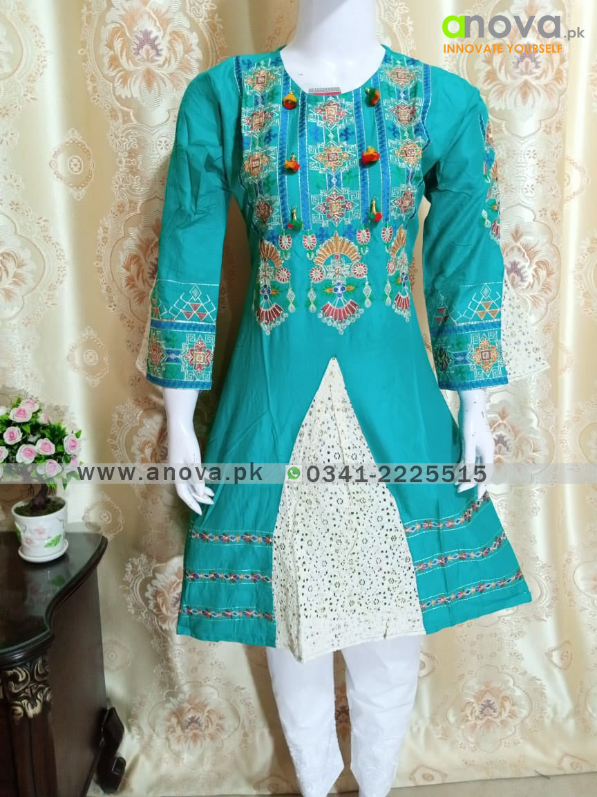 Fancy Embroided Three Piece Suit Article CST-4006