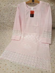 Premium Quality Paper Cotton Embroidered Women Shirt Article KPC-20051