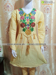 Fancy Embroided Three Piece Suit Article CST-4013