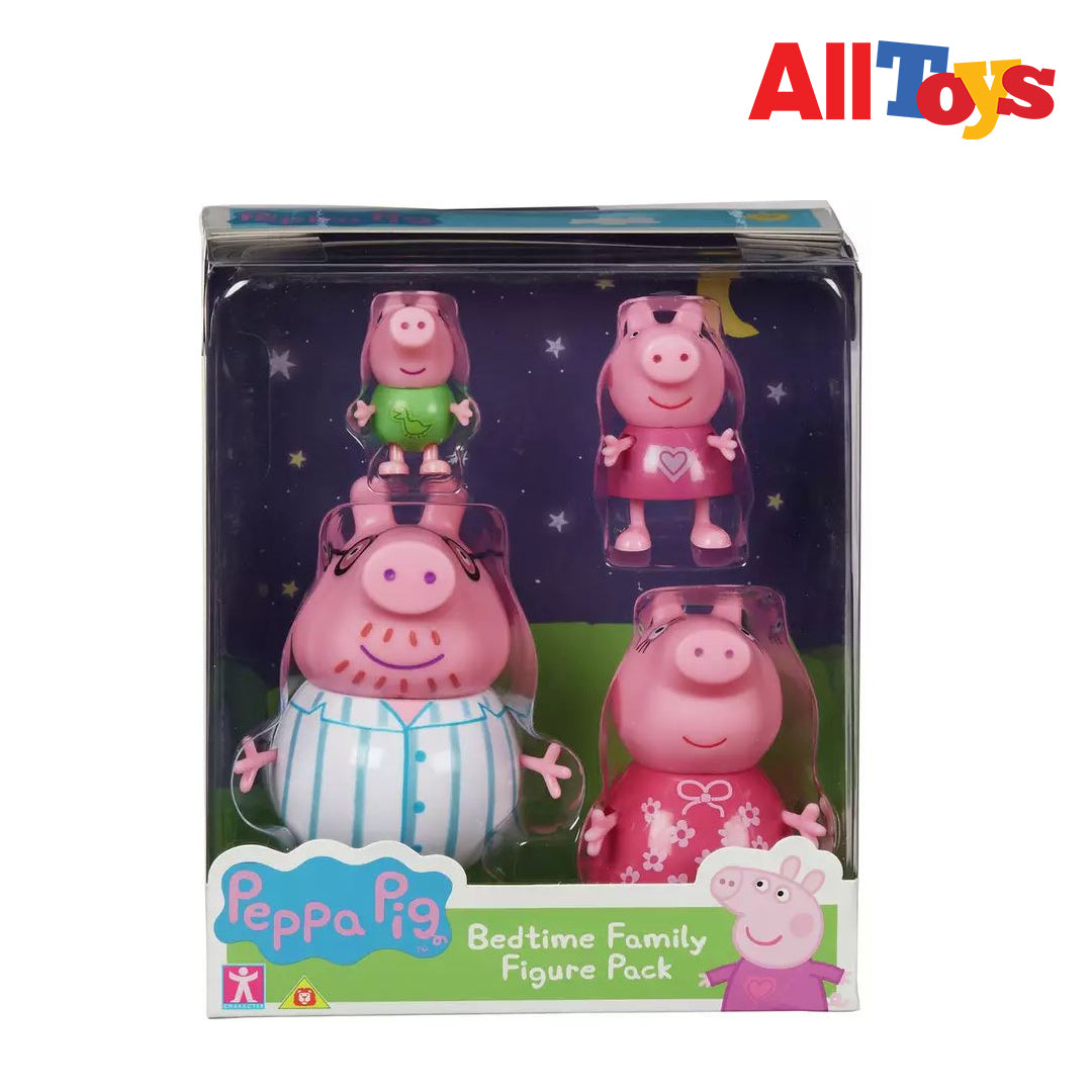 AllToys-7123 PEPPA PIG BEDTIME FAMILY FIGURE PCK