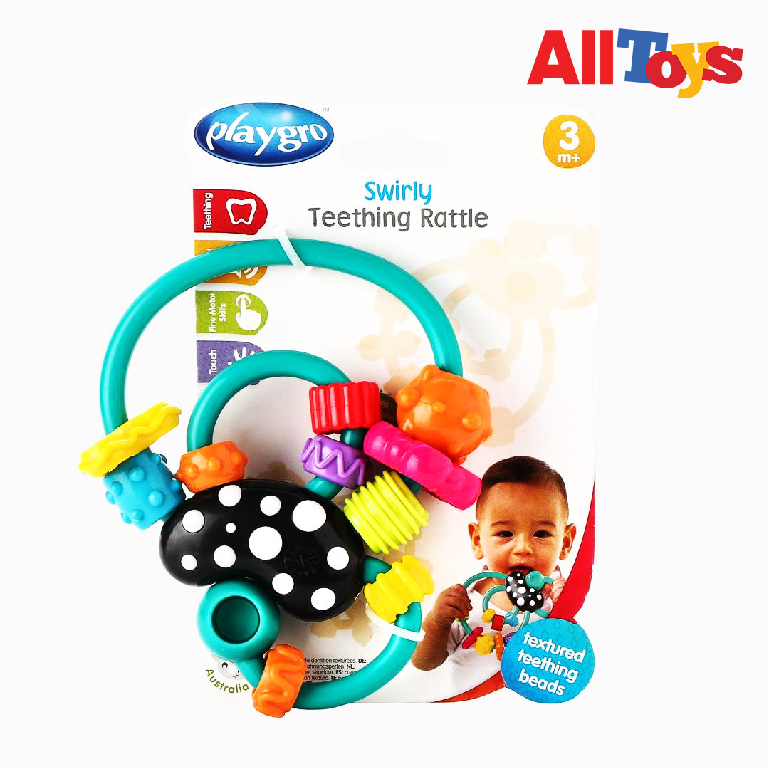AllToys-PLAYGRO SWIRLY TEETHING RATTLE